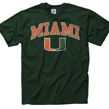 Miami Shirt T Shirt Hurricanes College University Apparel Officially Licensed By The NCAA
