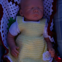 Baby Dress Crochet Yellow and White
