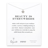 beauty is everywhere cherry blossom necklace, sterling silver