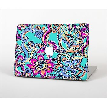 "The Bright WaterColor Floral Skin Set for the Apple MacBook Pro 13"" with Retina Display"
