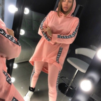 FENDI Casual Print Hoodie Top Sweater Pants Trousers Set Two-piece