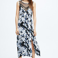 Minkpink Moonlight Fountain Dress in Floral Print - Urban Outfitters