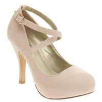 I Heart Collection Womens 41-SOPHIA03 Almond Toe High Heel Mary Jane Pumps:Amazon:Shoes