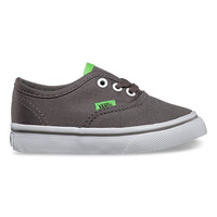Vans Pop Authentic, Toddlers (charcoal gray/green flash)