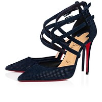 Christian Louboutin 2021 New pointed high heels 100 mm-3