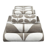 Orla Kiely | Face Washer Sculpted Stem Collection | Grey & White
