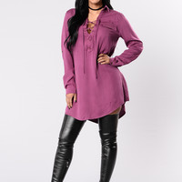 You Must Be Crazy Dress - Plum