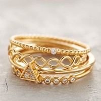 Janina Stacked Rings by Anthropologie