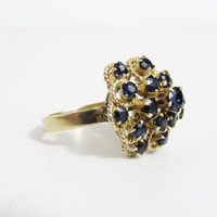 Vintage Ring: 14k Yellow Gold and Sapphire