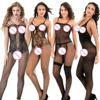 Women's Porn Sex Babydoll Lingerie Sexy Hot Erotic Costumes Open Crotch Sexy Underwear Plus Size Sexy Lingerie Sleepwear black