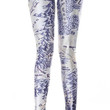 Blue and White Middle Earth Map Leggings