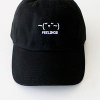 ~(˘▾˘~) Feelings Cap - Black