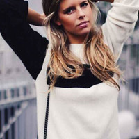 Black and White Knitted Sweater