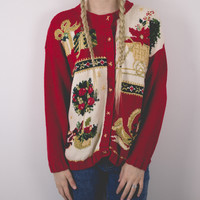 Vintage Presents Ugly Christmas Sweater