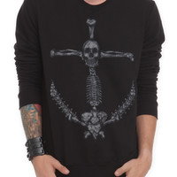 RUDE Anchor Crewneck Sweatshirt | Hot Topic