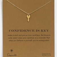 Dogeared 'Reminder - Confidence Is Key' Boxed Pendant Necklace