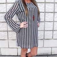 Houndstooth Lined Dress