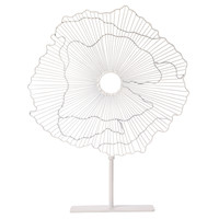 """23"""" Abstract Flower Decor, White, Other Accent Pieces"""