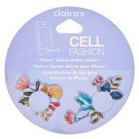 Vintage Floral iPhone® Button Stickers