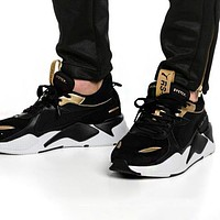 Bunchsun PUMA RS-X Reinvention Fashionable Women Men Casual Couple Sport Running Shoes Sneakers Black&Golden