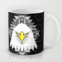 Geometric Eagle Mug by chobopop