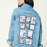 Oversized Patch Denim Jacket