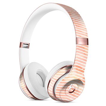 The Apricot Grunge Surface with Chevron Full-Body Skin Kit for the Beats by Dre Solo 3 Wireless Headphones