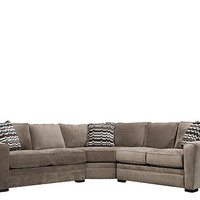 Artemis II 3-pc. Microfiber Sectional Sofa | Sectional Sofas | Raymour and Flanigan Furniture