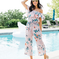 Courtney Off The Shoulder Floral Jumper