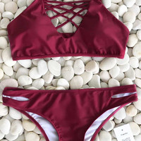 Cupshe Just Wanna Swim Bikini Set