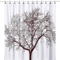 High Quality Tree Pattern Blackout Curtains Waterproof Shower Curtain for Bathroom with 12 Hooks gordijnen verduisterende