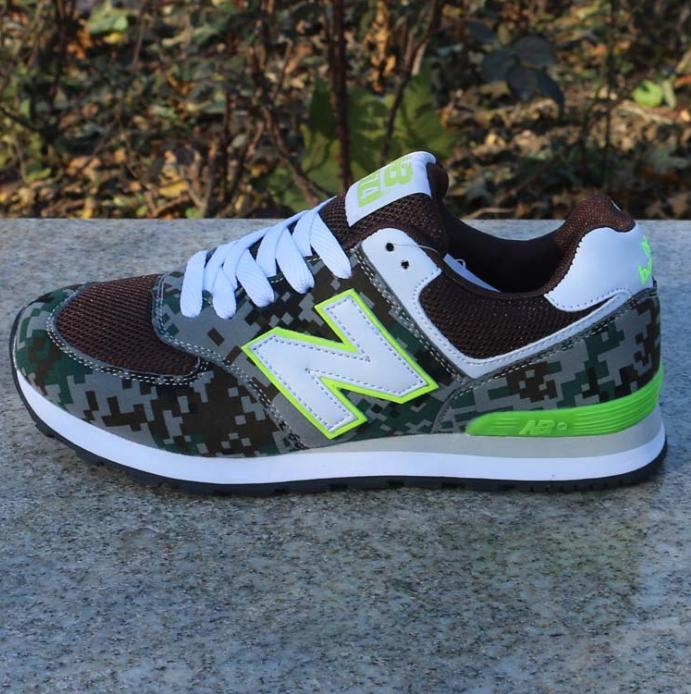 Image of Women Men Casual Running NEW BALANCE Sport Shoes Sneakers Jungle camouflage color