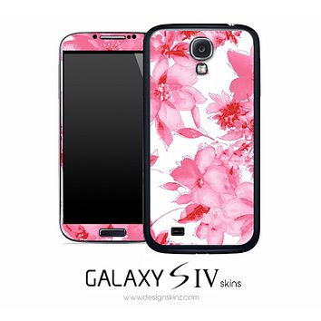 Abstract Pink Flowers Skin for the Galaxy S4