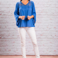 Be There For Blue Blouse, Royal Blue