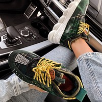 VERSACE Multicolor Sneakers Stitching Sports Leisure Shoes