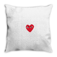comme des garcons play Throw Pillow