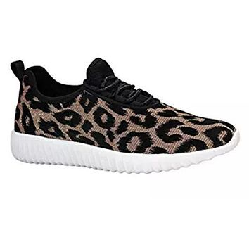 Leopard Glitter Sneakers - Kids and Adult