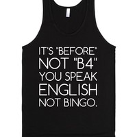 English Not Bingo.-Unisex Black Tank