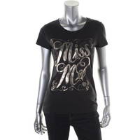 Miss Me Womens Cotton Graphic T-Shirt