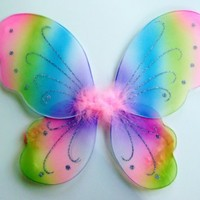 Kids and Toddler Rainbow Fairy Costume Wings