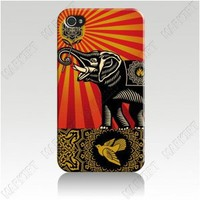 For iphone 5 iphone 4 4s Cover Case Skin OBEY ELEPHANT