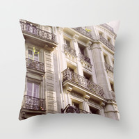 Parisian Architecture Throw Pillow by Pati Designs