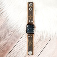 Upcycled LV Skinny Apple Watch Band