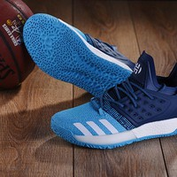 KUYOU A149 Adidas James Harden Vol.2 Boost Training Basketball Shoes Blue Dark Blue
