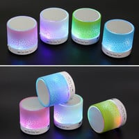 100% Brand New MINI Wireless Bluetooth Speaker USB speakers Portable Music Sound Box Subwoofer hand- call LED Speaker