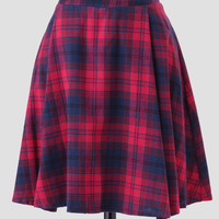 Country Road Plaid Skirt