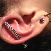 Stainless Steel F*ck You Industrial Barbell | Body Candy Body Jewelry