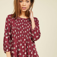 It's a Shirred Thing Floral Top | Mod Retro Vintage Short Sleeve Shirts | ModCloth.com