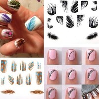 Ultrathin Peacock Feather Nail Art Stickers Colorful Nail Decals: Amazon.ca: Beauty