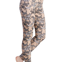 Nooworks 80s Skinny The Time is Meow Leggings